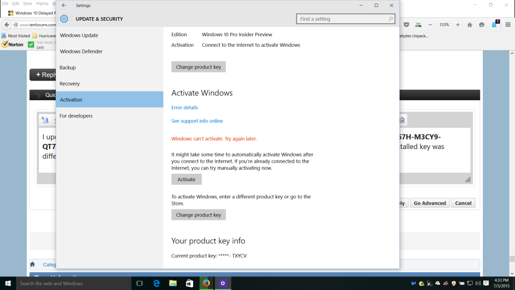 Windows 10 is enabled but continues to request activation purchase before you begin be sure to have your windows 10 product key handy you can retrieve it by running the following command in a cmdexe in administrator mode ccuart Choice Image